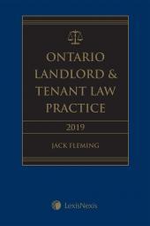 Ontario Landlord & Tenant Law Practice, 2019 Edition cover