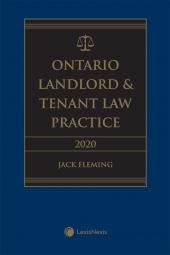 Ontario Landlord & Tenant Law Practice, 2020 Edition cover