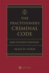 The Practitioner's Criminal Code, 2020 Edition – Student Edition + E-Book cover