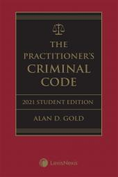 The Practitioner's Criminal Code, 2021 Edition – Student Edition + E-Book cover