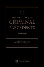 The Practitioner's Criminal Precedents, 5th Edition + CD cover