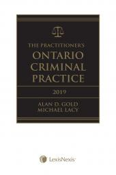 The Practitioner's Ontario Criminal Practice, 2019 Edition + E-Book cover