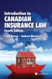 Introduction to Canadian Insurance Law, 4th Edition cover