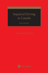 Impaired Driving in Canada, 6th Edition cover