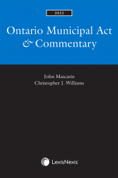 Ontario Municipal Act & Commentary, 2022 Edition cover