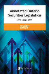 Annotated Ontario Securities Legislation, 49th Edition, 2019 cover