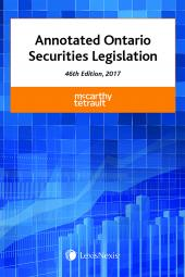 Annotated Ontario Securities Legislation, 46th Edition, 2017 cover
