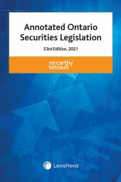 Annotated Ontario Securities Legislation, 53rd Edition, 2021 cover