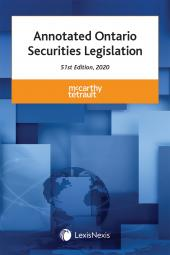 Annotated Ontario Securities Legislation, 51st Edition, 2020 cover