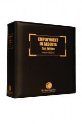 Employment in Alberta, 2nd Edition cover