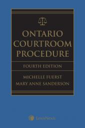 Ontario Courtroom Procedure, 4th Edition + CD cover