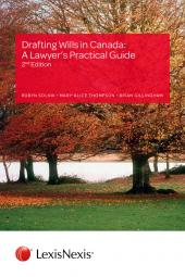 Drafting Wills in Canada: A Lawyer's Practical Guide, 2nd Edition + CD cover