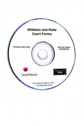 Williston and Rolls Court Forms on CD-ROM cover