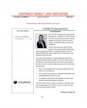 Ontario Family Law Reporter-  Newsletter + PDF cover