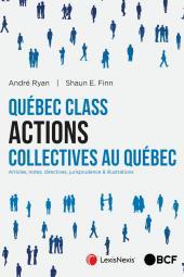 Québec Class Actions collectives au Québec cover