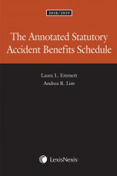 The Annotated Statutory Accident Benefits Schedule, 2018/2019 Edition cover