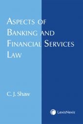 Aspects of Banking and Financial Services Law cover
