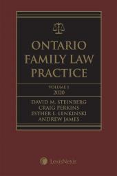 Ontario Family Law Practice, 2020 Edition + Related Materials + CD   cover