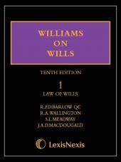 Williams on Wills Tenth edition (Including CD) cover