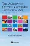 The Annotated Ontario Consumer Protection Act, 2022 Edition cover