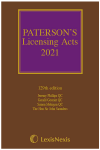 Paterson's Licensing Acts 2021 including CD-ROM cover