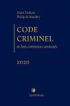 Code criminel et lois connexes annotés, édition 2020 cover
