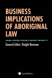 Business Implications of Aboriginal Law cover