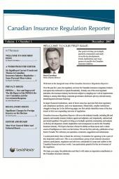 Canadian Insurance Regulation Reporter - Newsletter cover