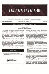 Electronic Healthcare Law Review - Newsletter cover