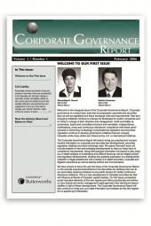 Corporate Governance Report - Newsletter cover
