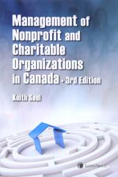 The Management of Nonprofit and Charitable Organizations in Canada, 3rd Edition cover