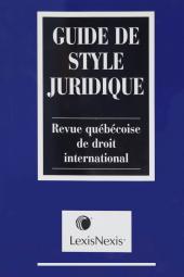 Legal Style Guide + Guide de style juridique cover