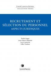 Thema - Recrutement et sélection du personnel: aspects juridiques cover