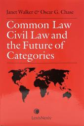 Common Law, Civil Law and the Future of Categories cover