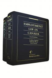 Employment Law in Canada, 4th Edition cover