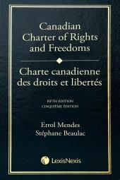 Charte canadienne des droits et libertés, 5e édition cover
