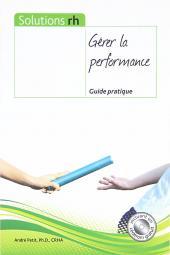 Gérer la performance - Guide pratique cover