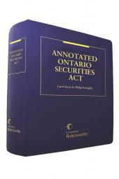 Annotated Ontario Securities Act cover