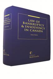 Law of Bankruptcy and Insolvency in Canada - Revised Edition cover