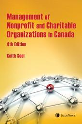 Management of Nonprofit and Charitable Organizations in Canada, 4th Edition cover