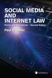 Social Media and Internet Law – Forms and Precedents, 2nd Edition + CD cover