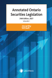 Annotated Ontario Securities Legislation, 54th Edition, 2021 cover