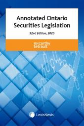 Annotated Ontario Securities Legislation, 52nd Edition, 2020 cover