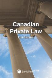 Canadian Private Law cover