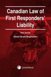 Canadian Law of First Responders' Liability  cover