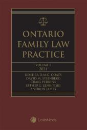 Ontario Family Law Practice, 2021 Edition (Volume 1) + Related Materials (Volume 2) cover