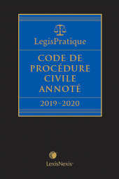 LegisPratique – Code de procédure civile annoté 2019-2020 cover