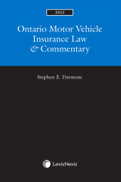 Ontario Motor Vehicle Insurance Law & Commentary, 2022 Edition cover