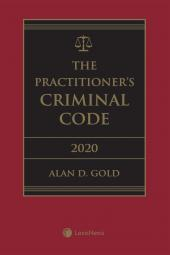 The Practitioner's Criminal Code, 2020 Edition + E-Book cover