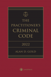 The Practitioner's Criminal Code, 2022 Edition + E-Book cover